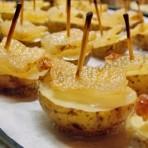вкусная картошка в духовке с салом кораблики