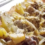 картошка с мясом в сметане