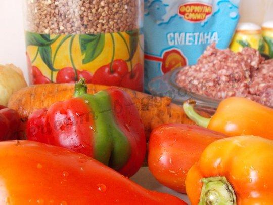 приготовление фаршированного перца в духовке с гречкой
