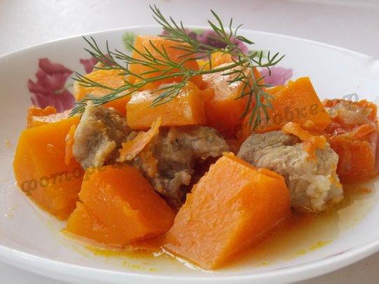 мясо с тыквой в духовке фото рецепт