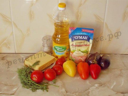 ингредиенты для овощных башенок