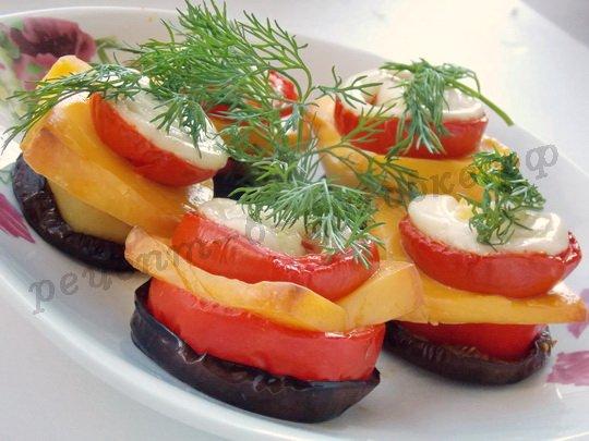 овощи кружочками из духовки готовы