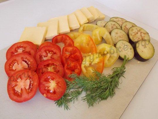 как приготовить овощи кружочками в духовке