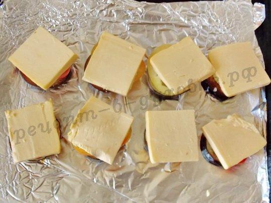 на перец кладём сыр