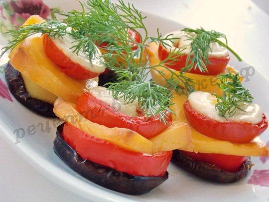 овощи кружочками в духовке