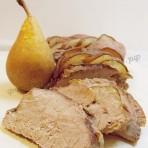 запечённое мясо с грушами