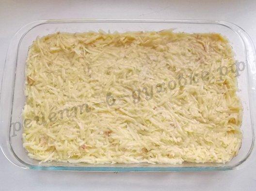 выложим картофельную смесь в форму