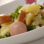 картошка с сосисками в горшочках в духовке (14)