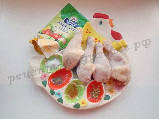ингредиенты для куриных ножек в майонезе