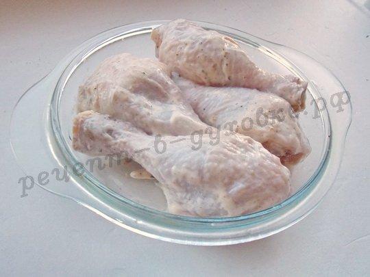 рецепт куриных ножек в стеклянной форме