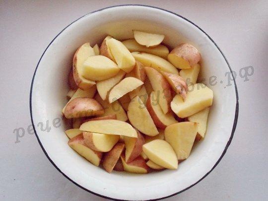 нарежем картошку дольками