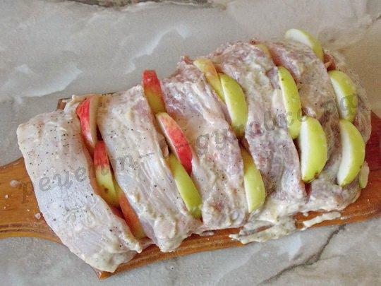 как приготовить антрекот с яблоками