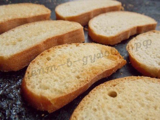 вкусные сухарики из булочки