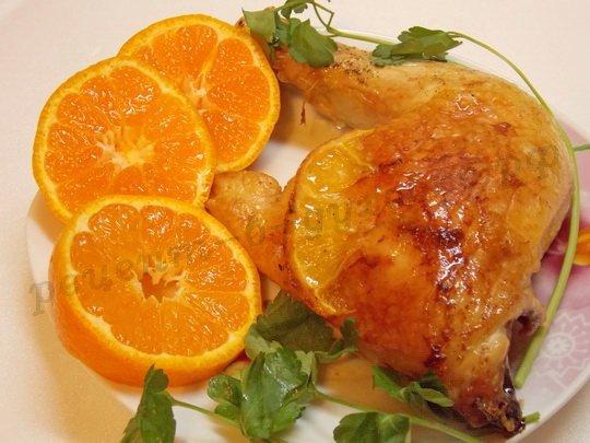 вкусная апельсиновая курица