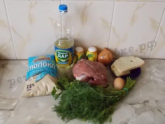 ингредиенты для люля-кебаб