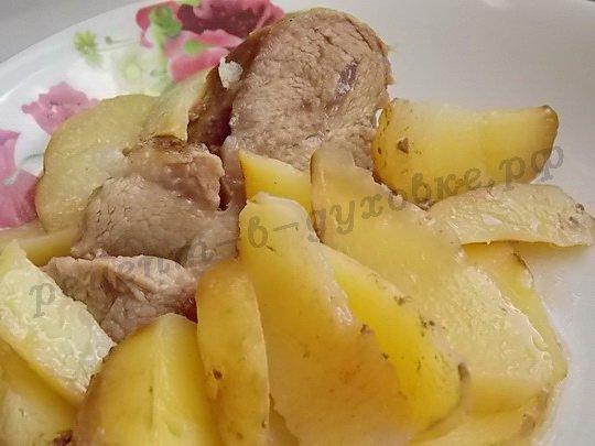 мясо запечённое с картошкой в фольге
