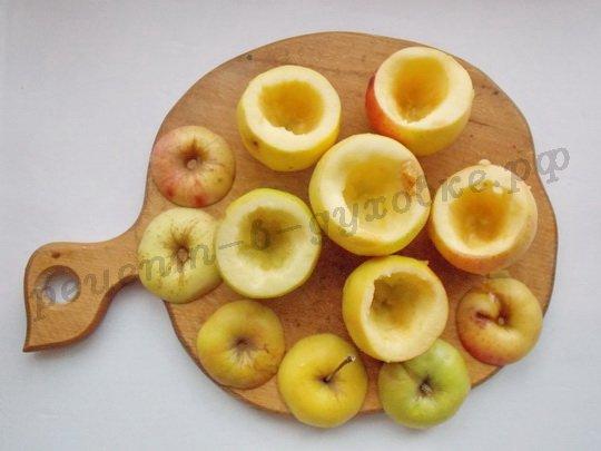 как приготовить фаршированные яблоки с творогом