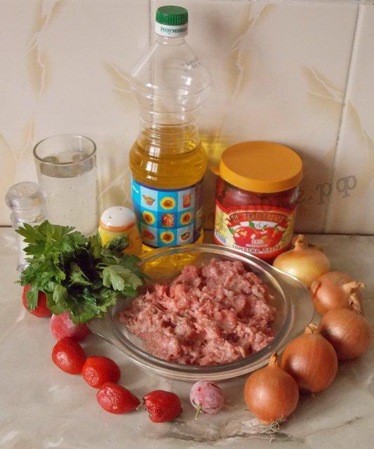 ингредиенты для ленивых котлет в духовке