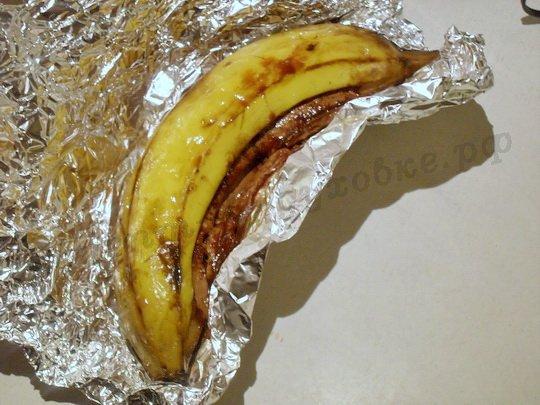 как запечь бананы в фольге