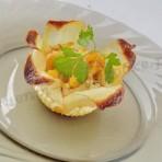 картофельные корзиночки-цветочки