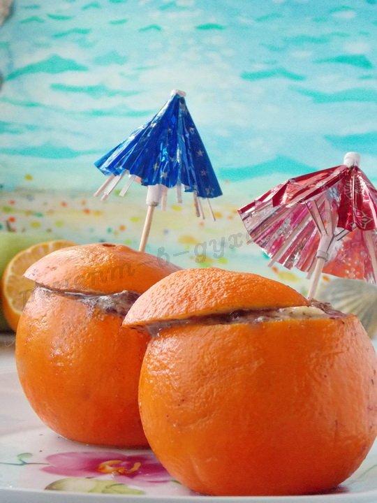 запечённые апельсины с фруктами