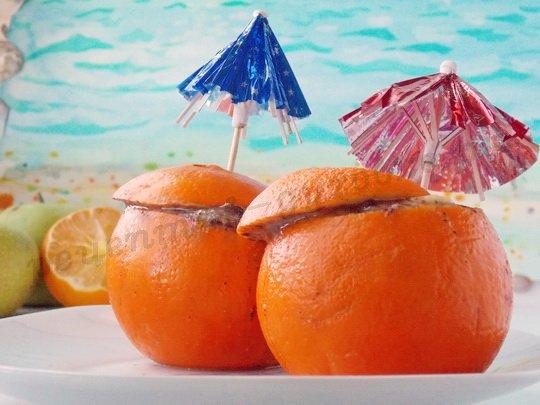 апельсины в духовке с фруктами