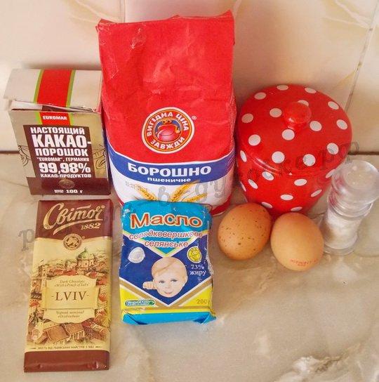 ингредиенты для шоколадных фонданов