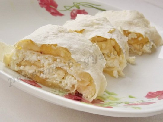десерт из лаваша в духовке