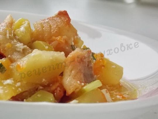 рыба в горшочках с картошкой