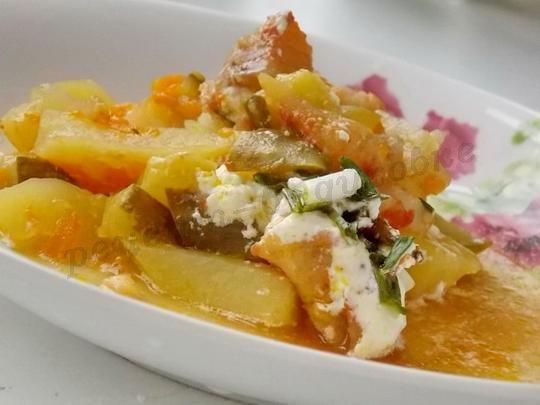 картошка с рыбой в горшочках рецепт