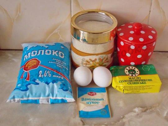 ингредиенты для манной запеканки