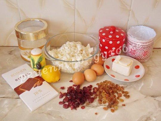 ингредиенты для творожной пасхи в духовке