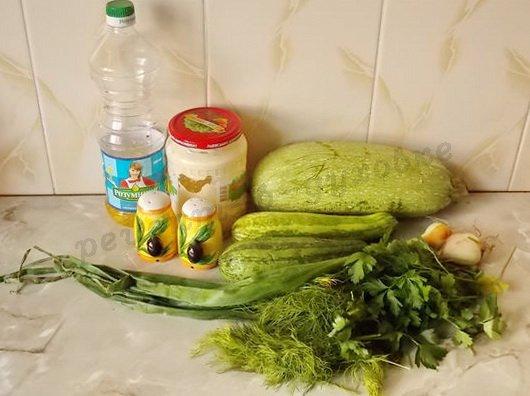 ингредиенты для кабачков в сливках