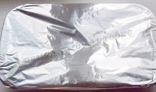 накроем форму фольгой