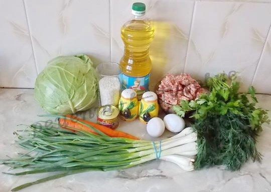 ингредиенты для ленивых голубцов