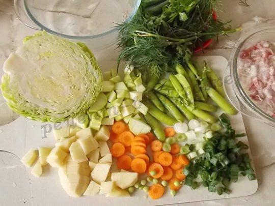 нарежем овощи для рагу