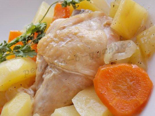 жаркое с овощами и курицей
