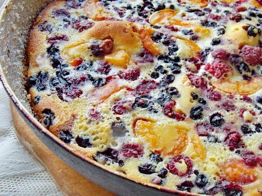рецепт флоньярда с фруктами и ягодами