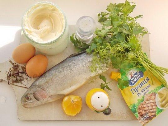 ингредиенты для форели со сливками