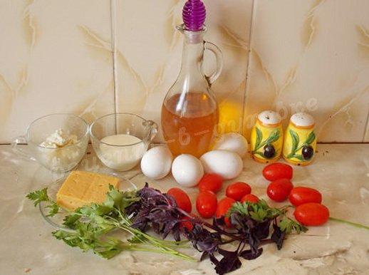 ингредиенты для фриттаты с помидорами