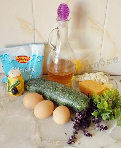 ингредиенты для кабачковой фриттаты