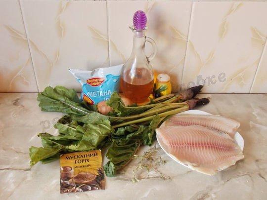 ингредиенты для фриттаты с мангольдом