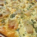 омлет с мангольдом и рыбой