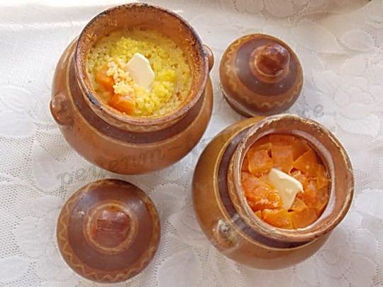 рецепт тыквенной каши в горшочках