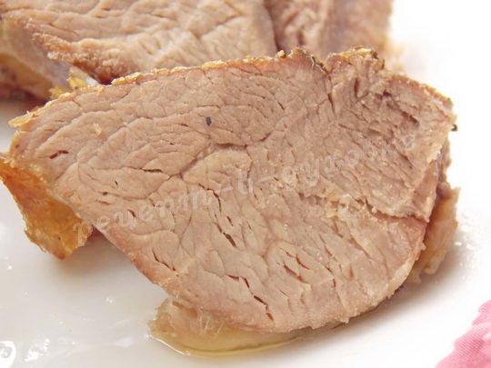 запечённое мясо в рукаве