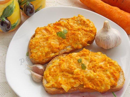 морковные бутерброды с сыром