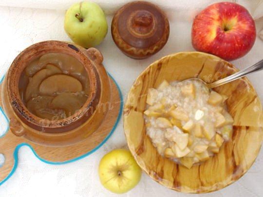 овсяно-яблочная каша