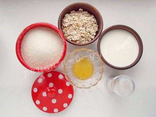ингредиенты для овсянки в горшочках