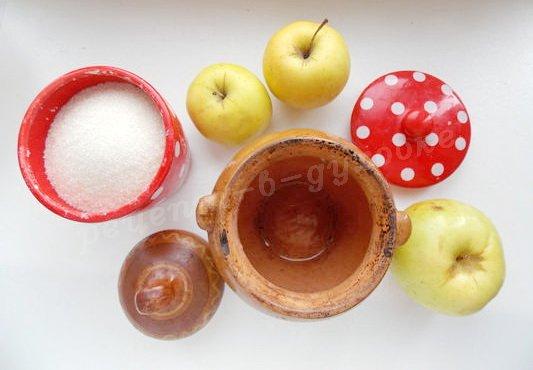 ингредиенты для быстрого яблочного варенья в духовке