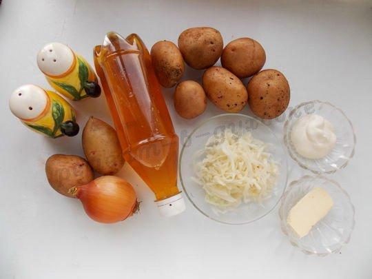ингредиенты для фаршированной картошки